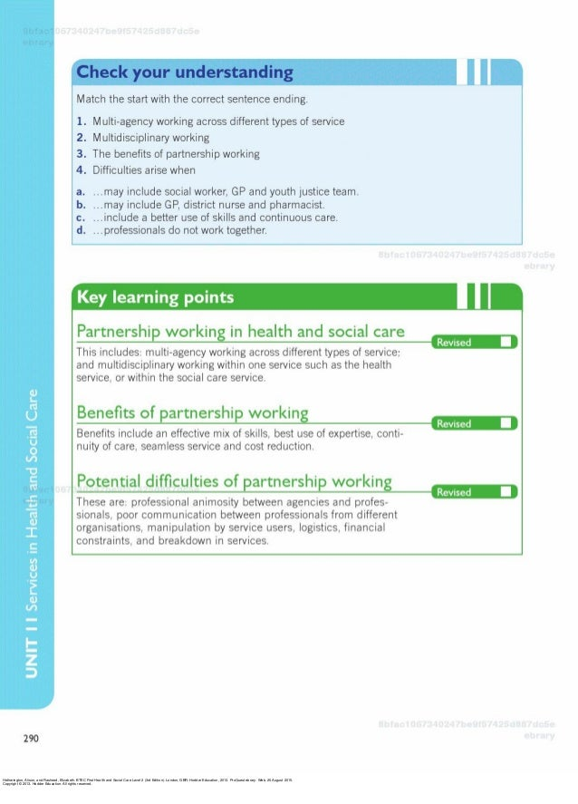 benefits of multi agency working in health and social care