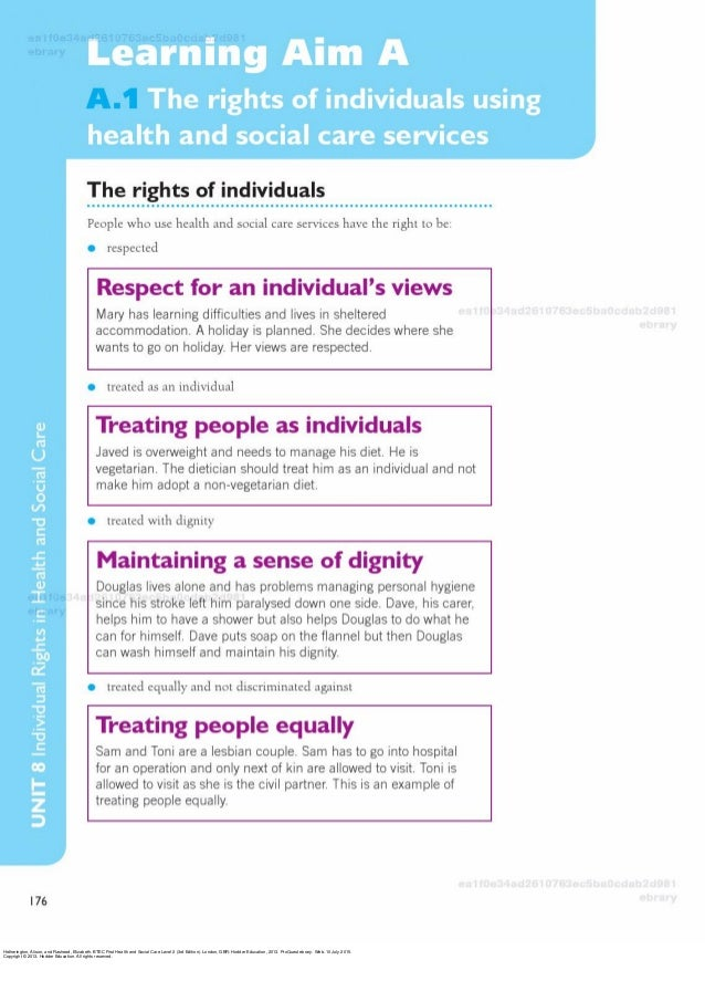 rights of the individual in health and social care