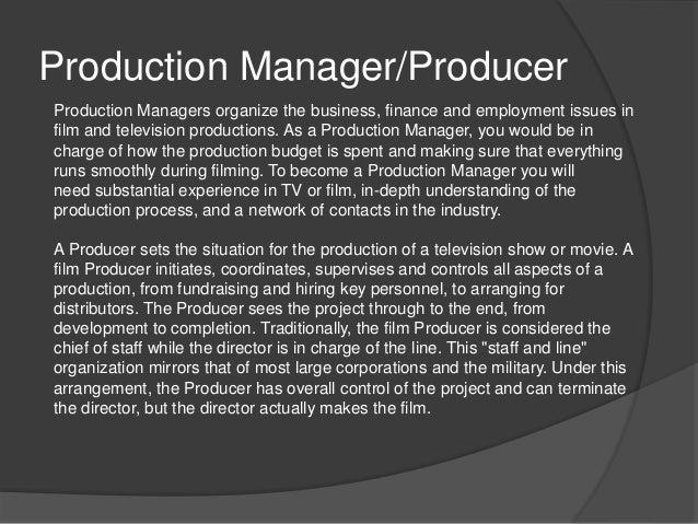 production managerproducer