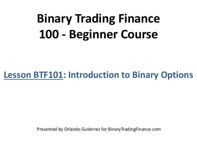 Basics of binary options