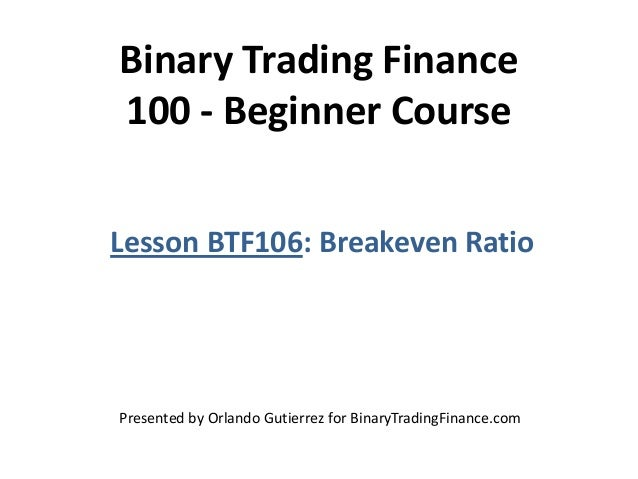 Options trading calculate break even
