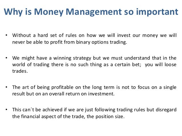 Money management trading binary options