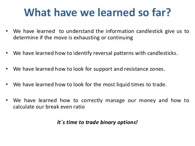 Binary option trading lessons