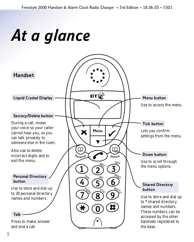 Bt freestyle 2000 User Guide from Telephones Online www