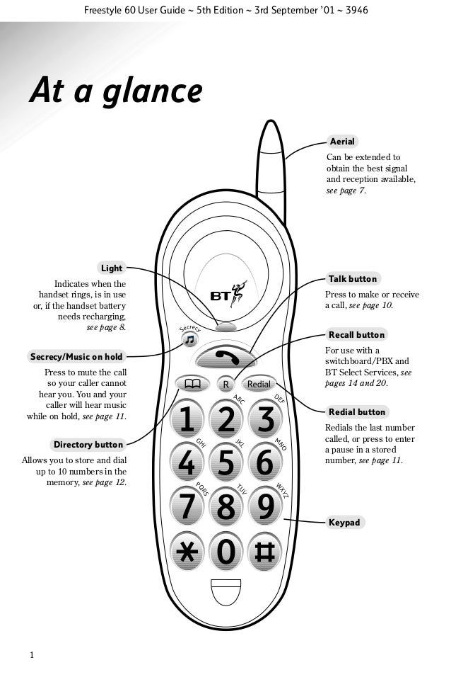 Bt freestyle 60 User Guide from Telephones Online www