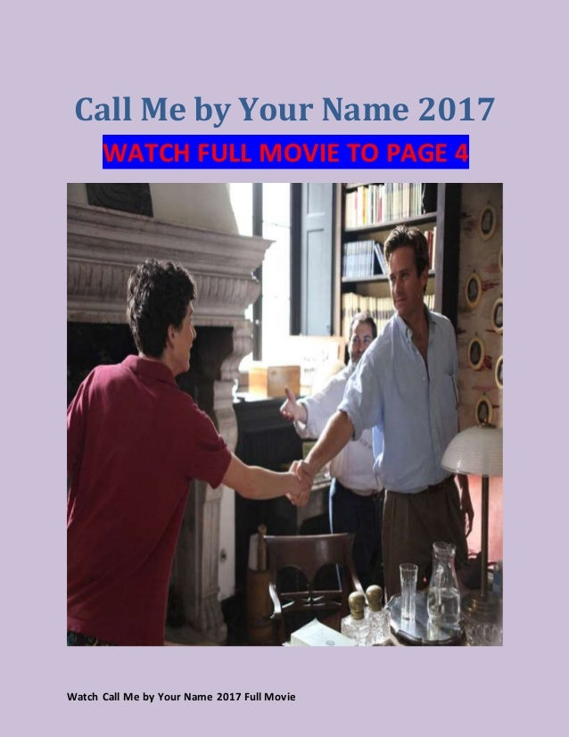 watch call me by your name online free