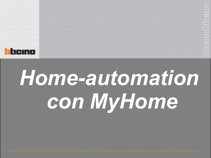 Home-automation  con MyHome
