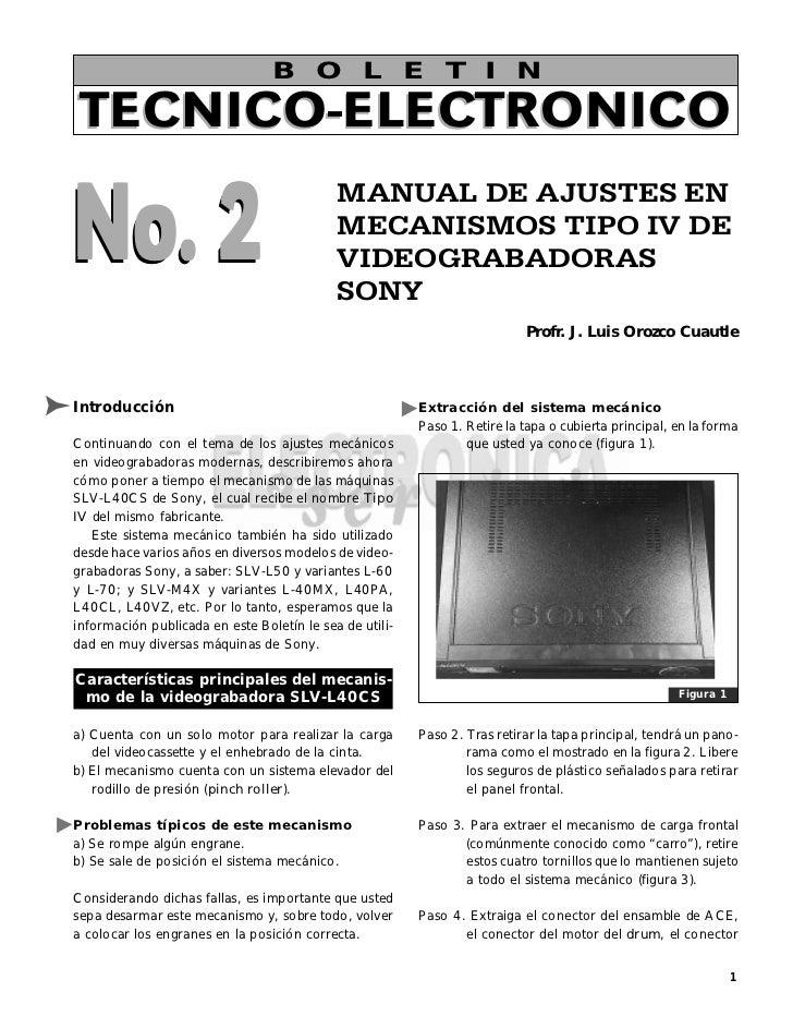 B O L E T I NTECNICO-ELECTRONICONo. 2                                            MANUAL DE AJUSTES EN                     ...