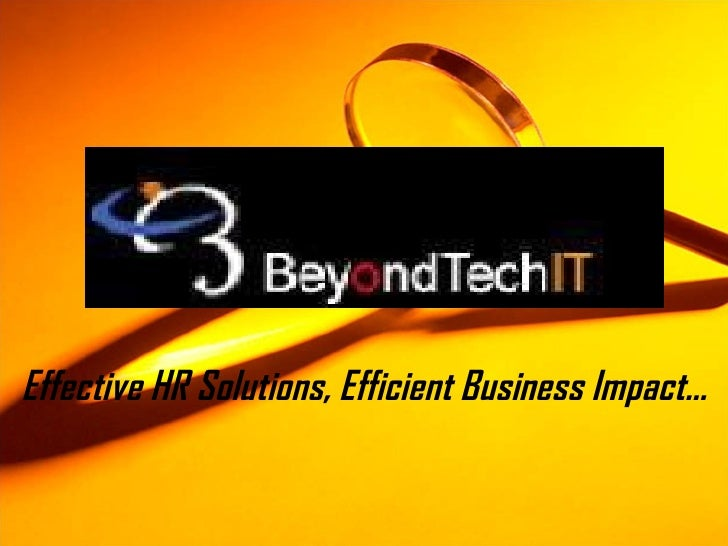 Effective HR Solutions, Efficient Business Impact…