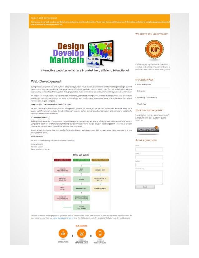 Services Web-Development of Brilliantwebdesign.net