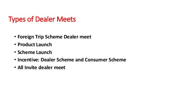 Btl activations process of videocon industries 13 types of dealer meets stopboris Choice Image