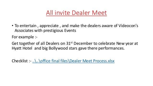 Invitation card format for dealer meet gallery invitation sample invitation card format for dealer meet 28 images btl btl activations process of videocon industries sle stopboris Images