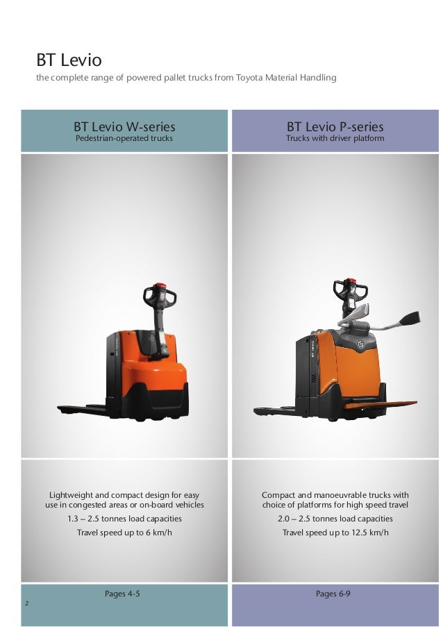Bt Levio The Complete Powered Pallet Trucks Solution