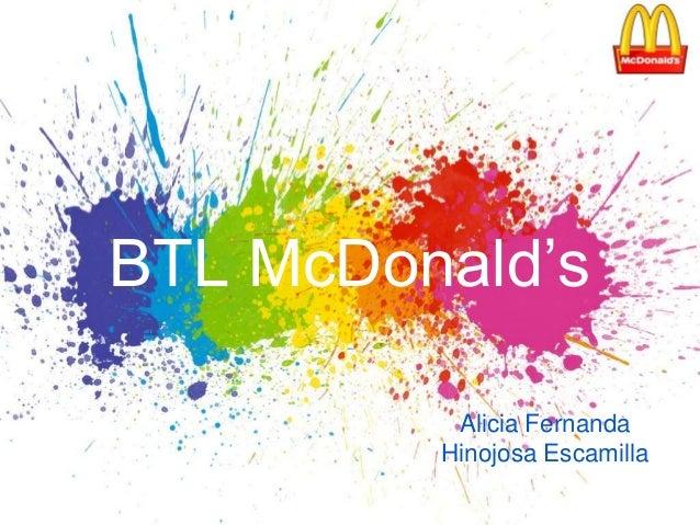 BTL McDonald's Alicia Fernanda Hinojosa Escamilla