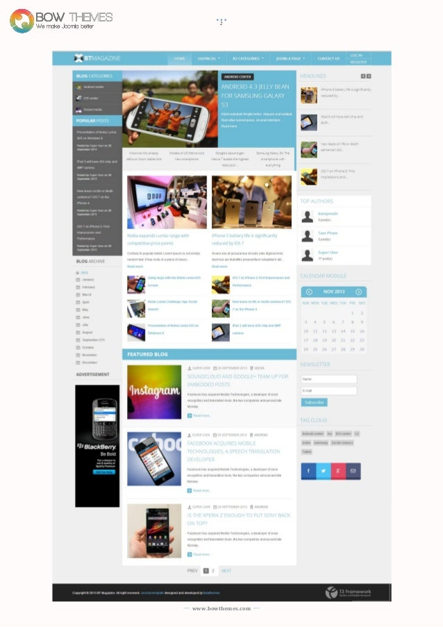 Joomla tutorials to install and customize BT Magazine Template versio