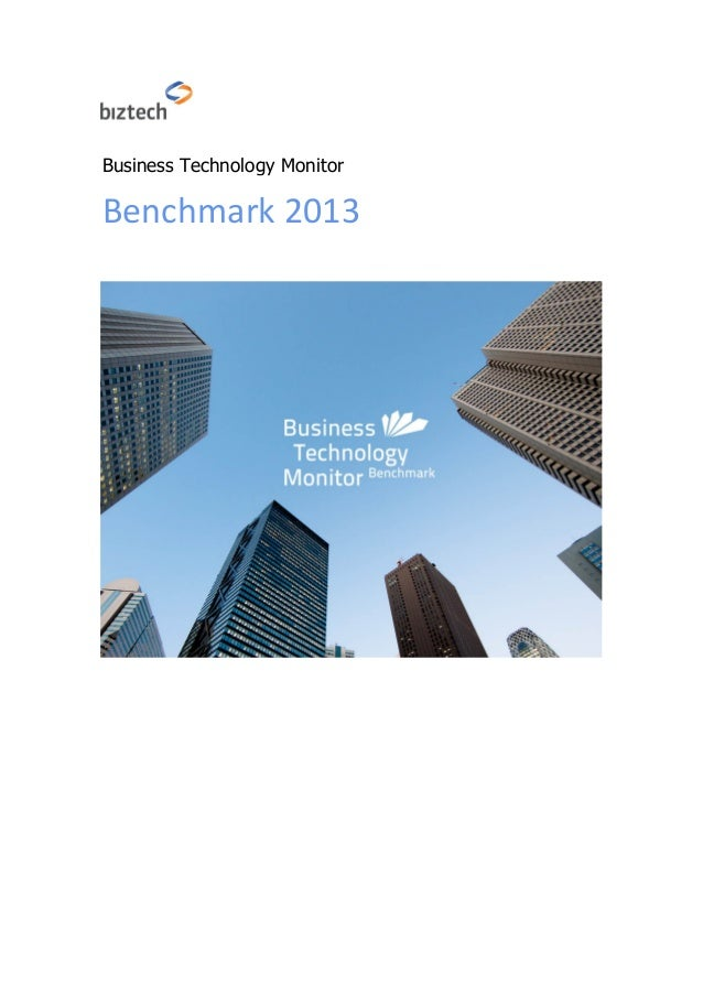 Business Technology Monitor Benchmark 2013