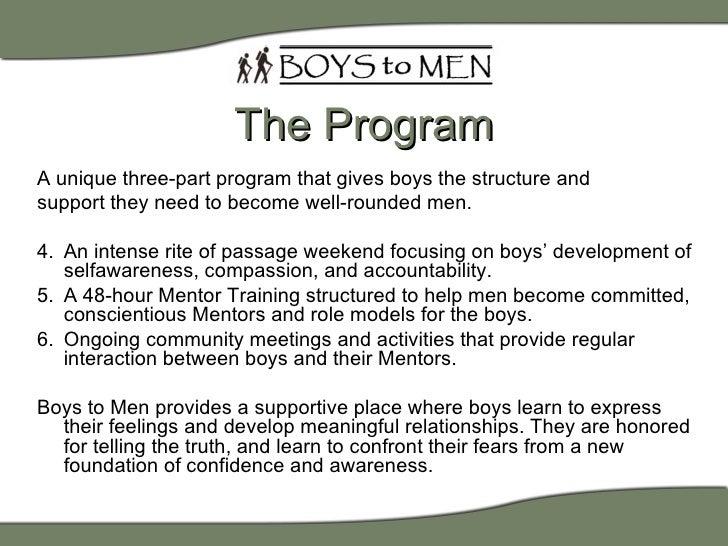 Boys to Men Mentoring Introduction Slide 3