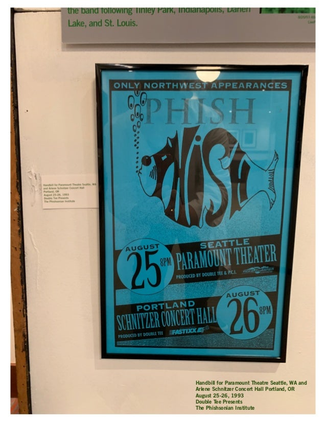 """Temple of Fire"" Handbill Portland Meadows Portland, OR July 15, 1998 Bill Graham Presents The Phishsonian Institute"