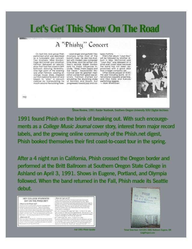 Handbill for Silva Hall Hult Center Eugene, OR May 19, 1994 Bill Graham Presents The Phishsonian Institute
