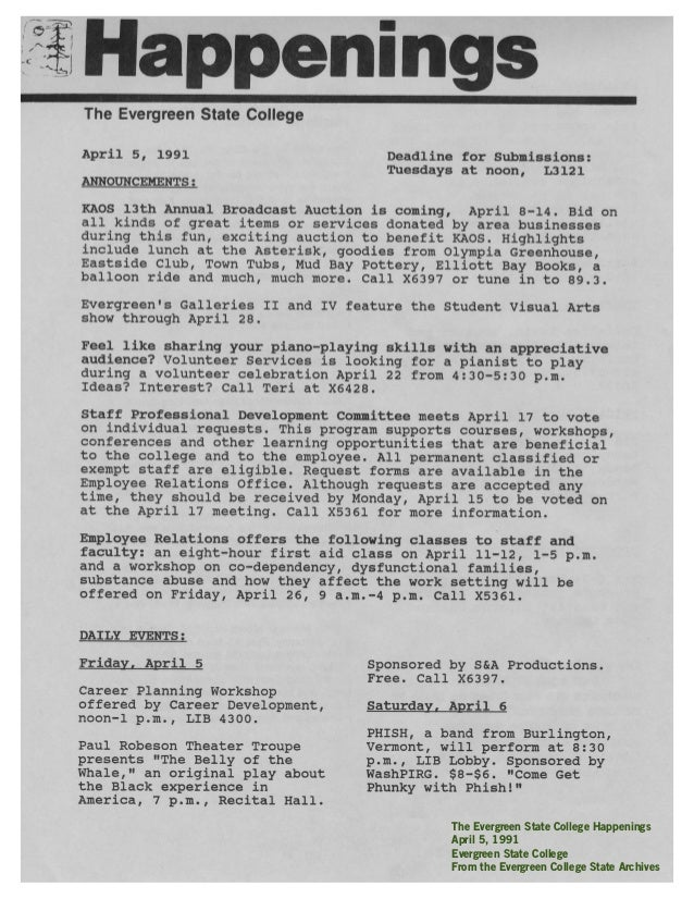 Handbill for Civic (Keller) Auditorium Portland, OR May 23, 1994 Bill Graham Presents The Phishsonian Institute