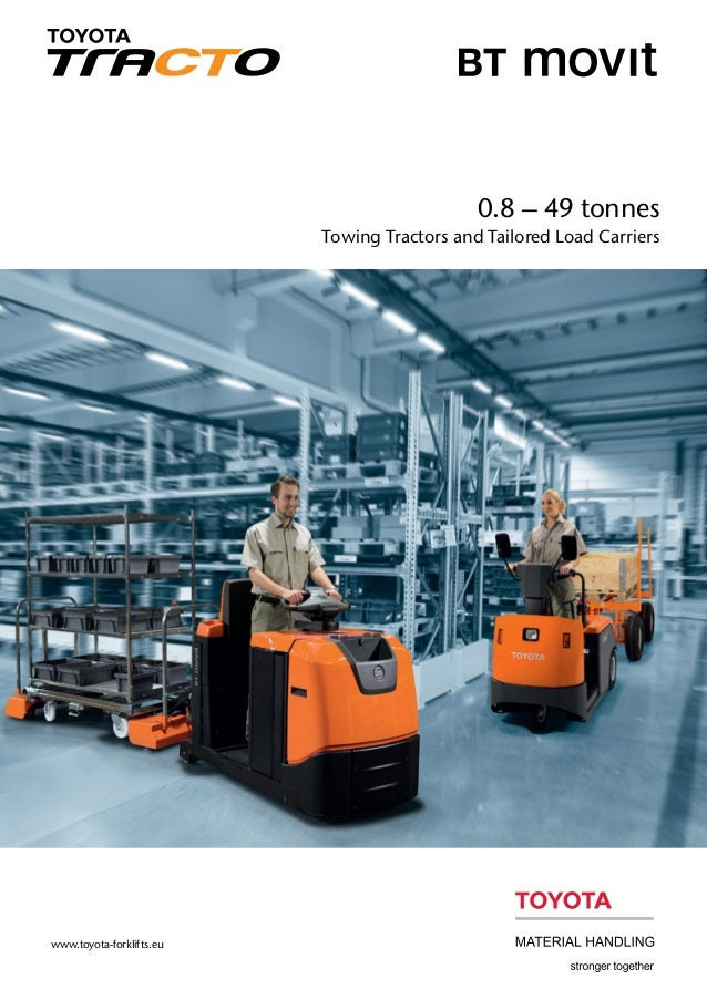 0.8 – 49 tonnes Towing Tractors and Tailored Load Carriers www.toyota-forklifts.eu