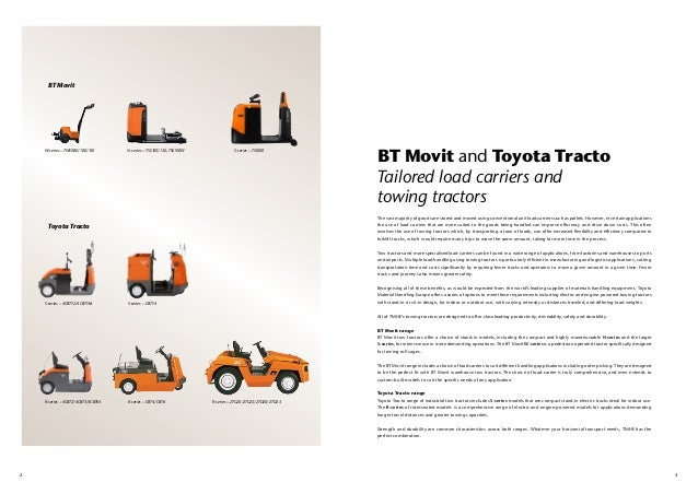Tmhe S Bt Movit Towing Tractors And Load Carriers
