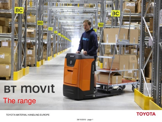 The range TOYOTA MATERIAL HANDLING EUROPE 28/10/2013 - page 1