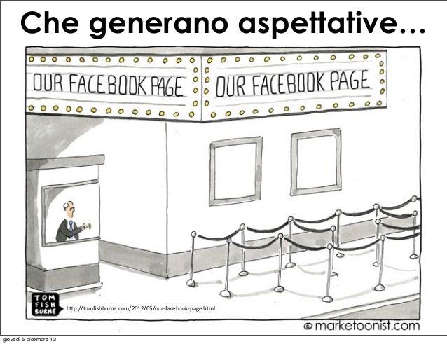 """Che generano aspettative…  h""""p://tomfishburne.com/2012/05/our-‐facebook-‐page.html  giovedì 5 dicembre 13"""
