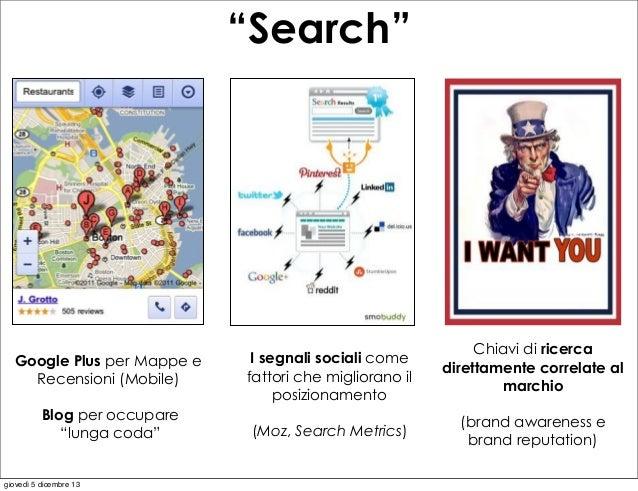 """""""Search""""  Google Plus per Mappe e Recensioni (Mobile)  I segnali sociali come fattori che migliorano il posizionamento  Bl..."""