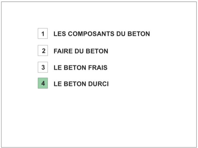 Béton. 4 béton durci