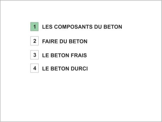 Béton. 1 composant du béton