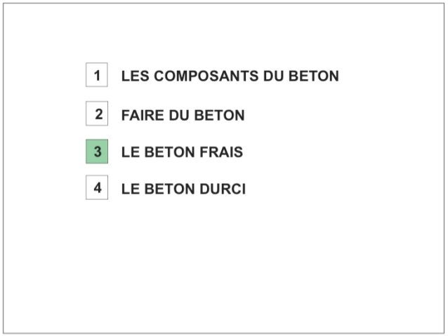 Béton. 3 béton frais