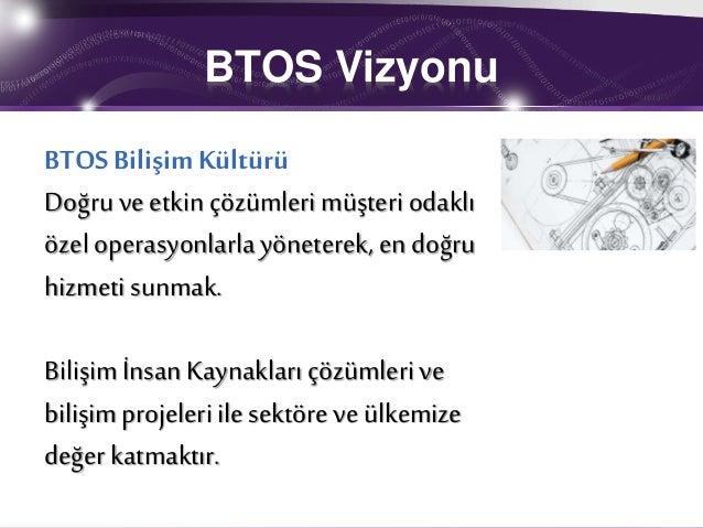 BTOS Bilişim İnsan Kaynakları Hizmetleri Slide 2