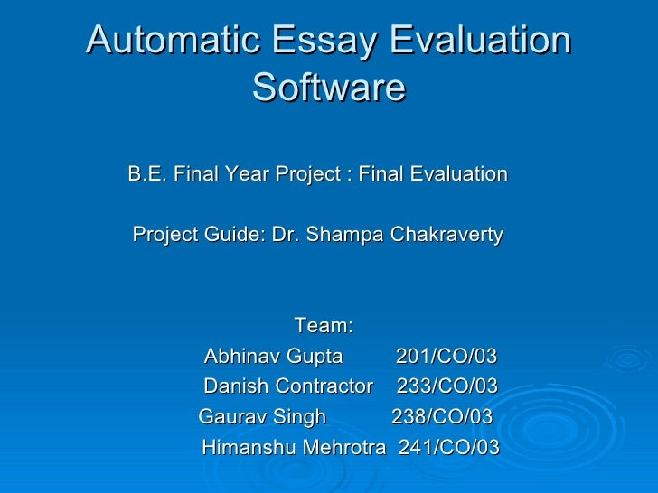program evaluation essay