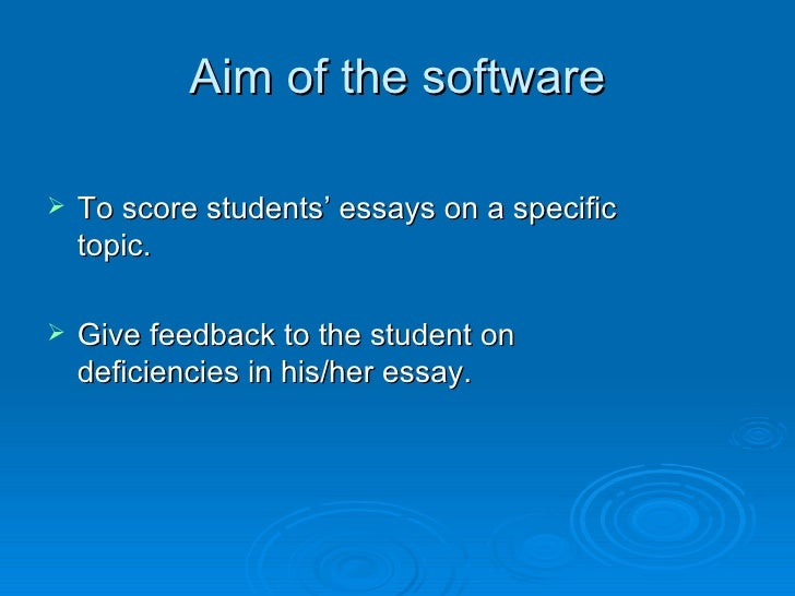 essay scorer demonstration Explains the sections of the paper student score report can be used as a guide for reviewing the score report with students.