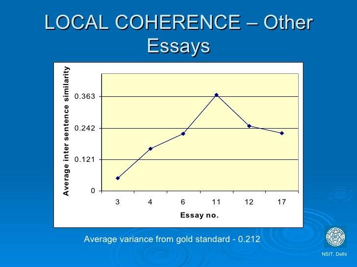 Essay gold standard