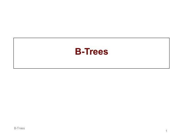 B-Trees  B-Trees  1