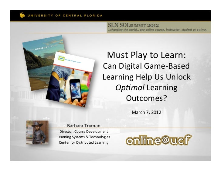 Must Play to Learn:                                          Can ...