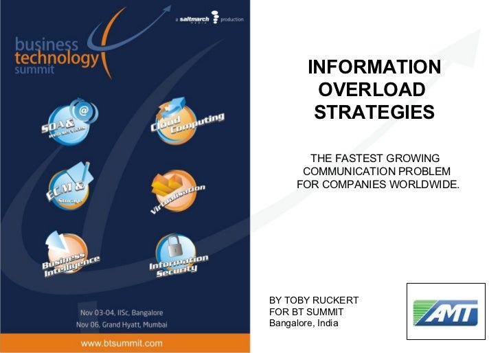 INFORMATION       OVERLOAD       STRATEGIES      THE FASTEST GROWING     COMMUNICATION PROBLEM    FOR COMPANIES WORLDWIDE....