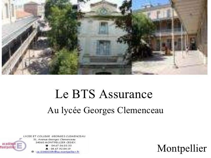 Le BTS Assurance  Au lycée Georges Clemenceau Montpellier
