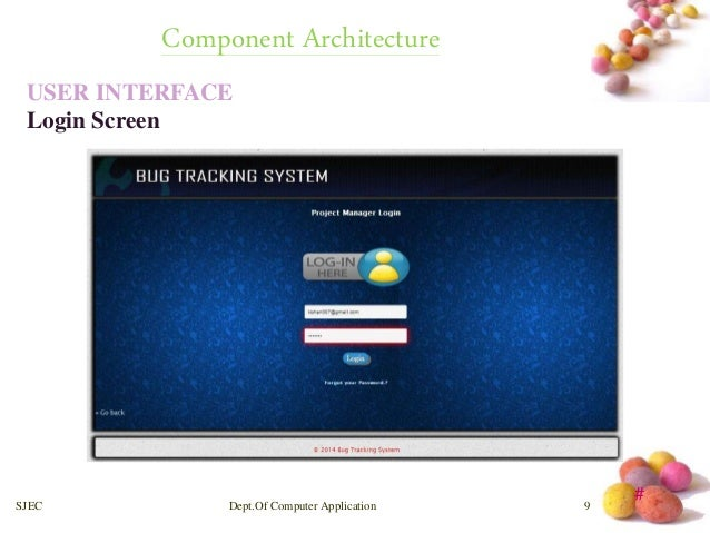 Bug tracking system 10 638gcb1409619697 architectural design for bug tracking system sjec deptof computer application 8 10 ccuart Gallery