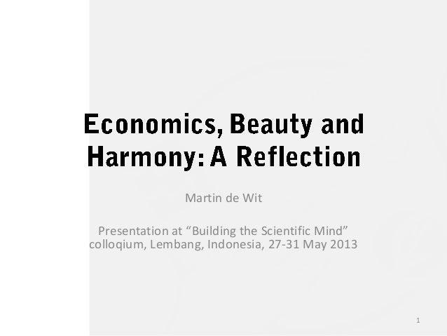 "Martin de WitPresentation at ""Building the Scientific Mind""colloqium, Lembang, Indonesia, 27-31 May 20131"