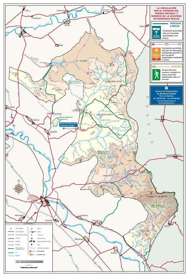 14   Mapas de Rutas de BTT por el Parque Natural de las Bardenas Reales de    Navarra Naturalmente