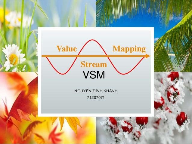 VSM NGUYỄN ĐÌNH KHÁNH 71207071 Value Stream Mapping