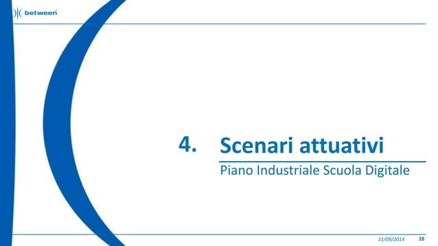 Scenari attuativi  Piano Industriale Scuola Digitale  21/09/2014 28  4.