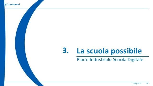 La scuola possibile  Piano Industriale Scuola Digitale  21/09/2014 15  3.