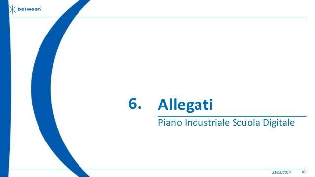 Allegati  Piano Industriale Scuola Digitale  21/09/2014 36  6.