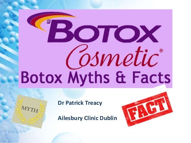 Dr. Patrick Treacy Botox 'Myths & Facts' lecture to AAAD ...