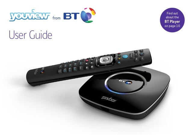 Find out about the BT Player on page 10 User Guide