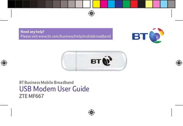BT ZTE MF667 Mobile Broadband Dongle